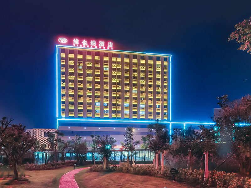 酒店夜景照