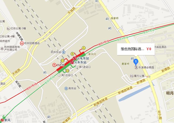 杭州东站店地理位置